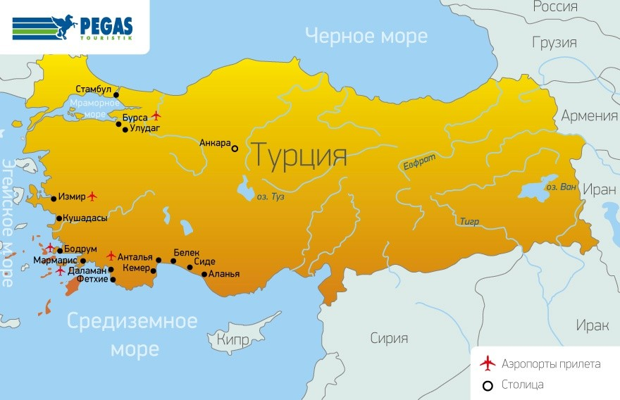 карты Турция